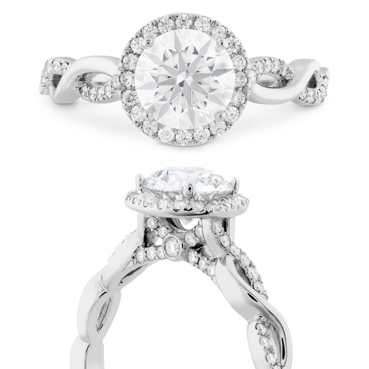Destiny Lace Halo Diamond Engagement Ring