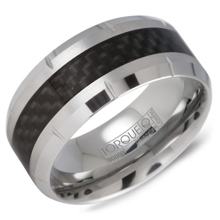 Tungsten and Carbon Fiber Wedding Band