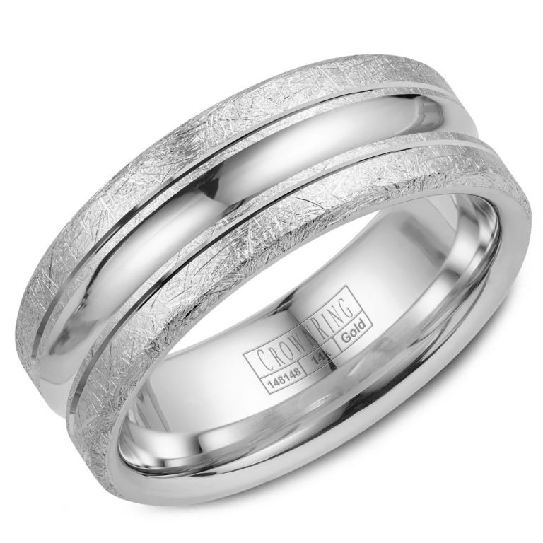 Cobalt and 14k White Gold Wedding Band