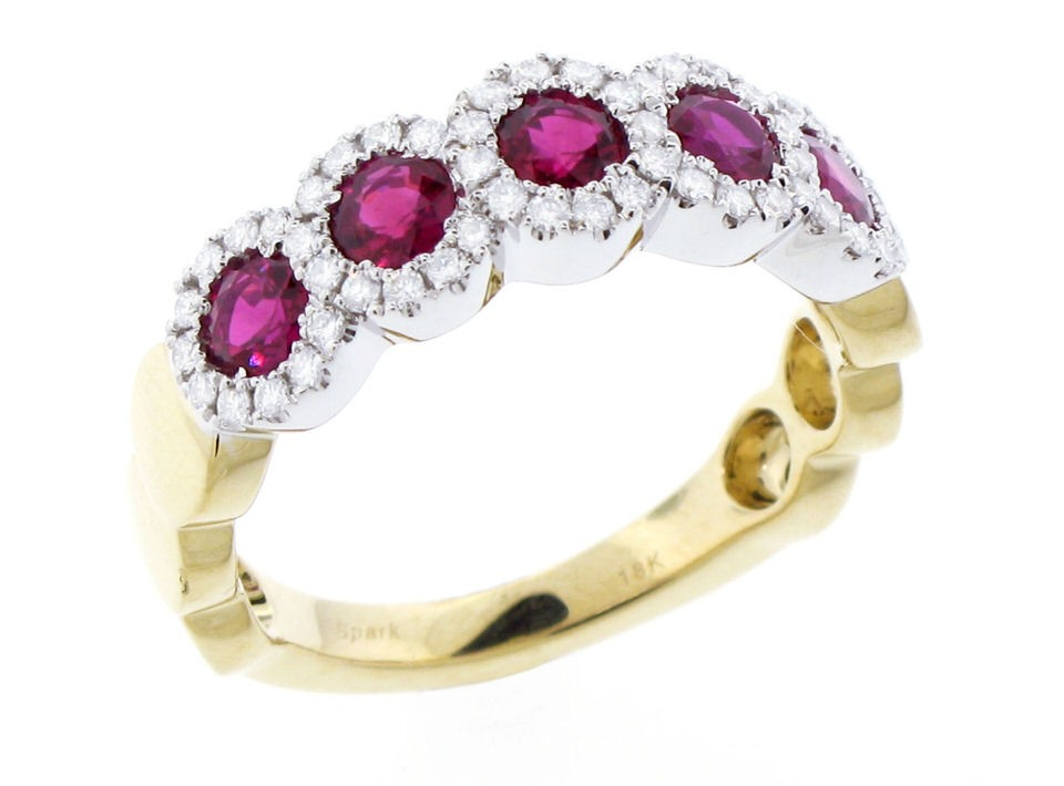 Spark Creations 18k Yellow and White Gold Ruby Ring