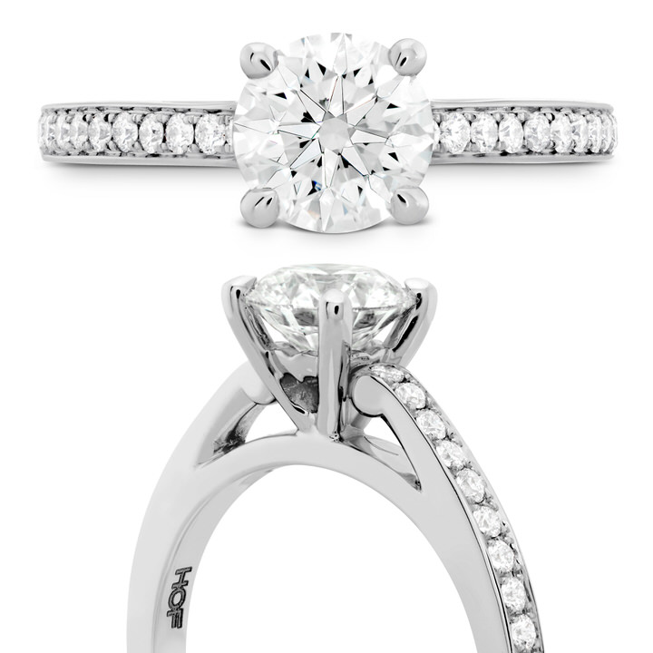 Simply Bridal Solitaire with Diamond Band
