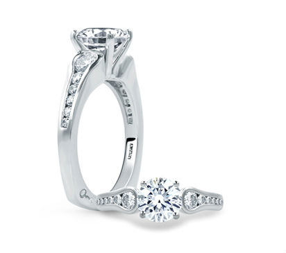 Round Diamond Center Solitaire Engagement Ring from the Classics Collection
